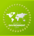 world environment day logo icon design vector image vector image