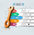 wrench screw repair icon business infographic vector image vector image