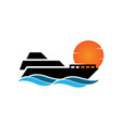 yacht icon design template isolated vector image vector image