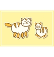 Mother cat and kitten vector image