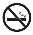 no smoking sign on white background no smoking vector image