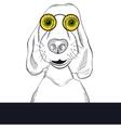 Hand drawn portrait of dog vector image
