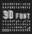 3D Font and Number design vector image vector image