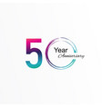 50 year anniversary template design