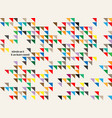 abstract of colorful vintage triangles background vector image vector image