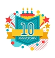 anniversary abstract background with ribbon vector image