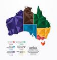 Australia Map Infographic Template geometric vector image