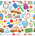 back to school seamless vector image vector image