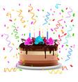 birthday cake realistic design concept vector image