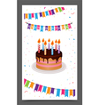 birthday greeting and invitation card design vector image
