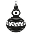 black and white xmas tree decoration silhouette vector image vector image