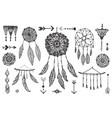 boho decor set collection hand drawn vector image vector image