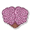 brain silhouette light purple color with top view vector image