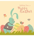 Bunny and easter egg vector image vector image