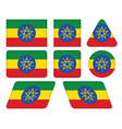 buttons with flag of Ethiopia vector image vector image