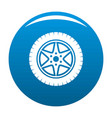 car wheel icon blue vector image vector image