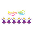 celebrate navratri festival with dancing dandiya vector image
