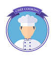 chef cooking logo vector image vector image