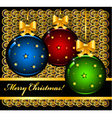 Christmas card with balls vector image vector image