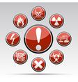 Circle Danger hazard sign collection vector image vector image