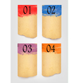 Collection of retro cardboard paper banners with vector image vector image