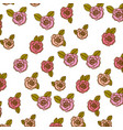 color pencil drawing of pattern with roses and vector image vector image