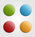 Colorful buttons design elements vector image