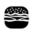 contour hamburger fast food icon vector image vector image