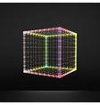 Cube Molecular lattice Connection structure 3d vector image vector image