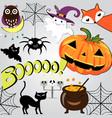 cute sweet halloween doodle cartoon vector image