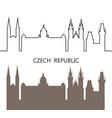 czech republic vector image vector image