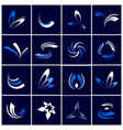 design elements set abstract icons in blue an vector image vector image