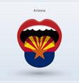 electoral vote arizona abstract mouth vector image
