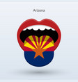 electoral vote of arizona abstract mouth vector image