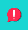 exclamation mark in bubble icon attention vector image