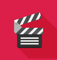 flat clapboard icon with long shadow vector image