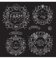 Fruits Vegetables Monogram Black vector image