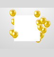 gold balloons confetti and ribbons celebration vector image vector image