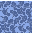 Graphic fetus pattern vector image vector image