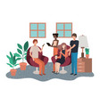 group people using technology devices in vector image vector image
