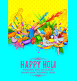 happy holi background for festival of colors vector image vector image