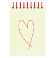 heart drawing on white background vector image