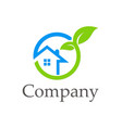 house ecology environment company logo vector image vector image