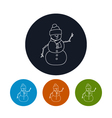 Icon of a Christmas Snowman vector image