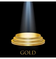 Illuminated Golden Podium vector image vector image