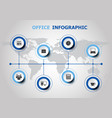infographic design with office icons vector image vector image