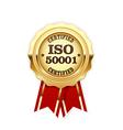 ISO 50001 standard certified rosette - energy vector image vector image