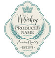 label for whiskey with ears barley vector image