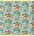 light colorful baroque seamless pattern vector image