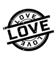 love rubber stamp vector image vector image